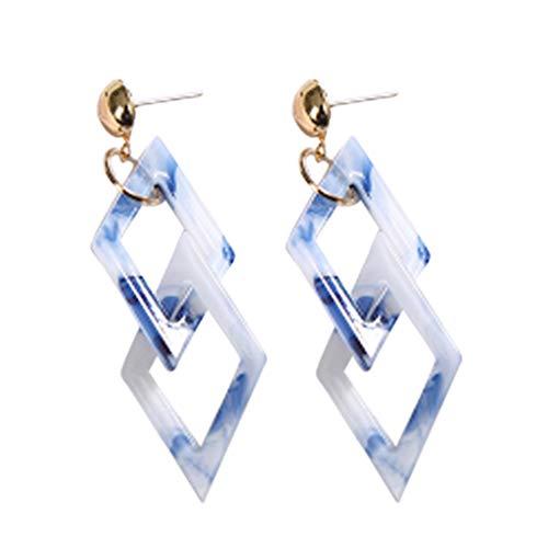 LILICAT_Schmuck Ohrringe mit Geometrisch Damen Schmuck, Persönlichkeit Silber Ohrring Doppel Marquise Loops Design Ohrringe, Damen Geschenk Anhänger Ohrringe (Doppel-v-strampler)