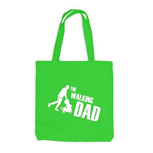 Jutebeutel - The Walking Dad - Fun Papa Father Hellgrün