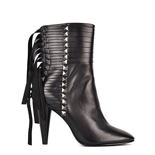 Ash Footwear Brave Boots a Talon en Cuir Noir Femme