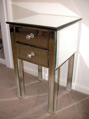Venetian mirror bedside cabinet, 2 drawer - X 1 (Sophie Rose Range)