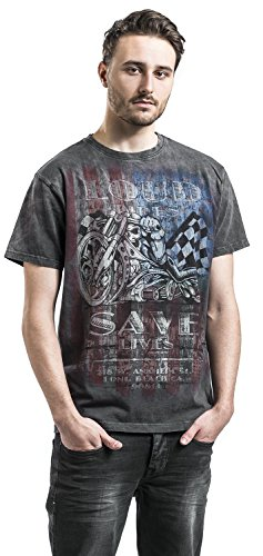 Jesse James T-Shirt Workwear Branded Nero