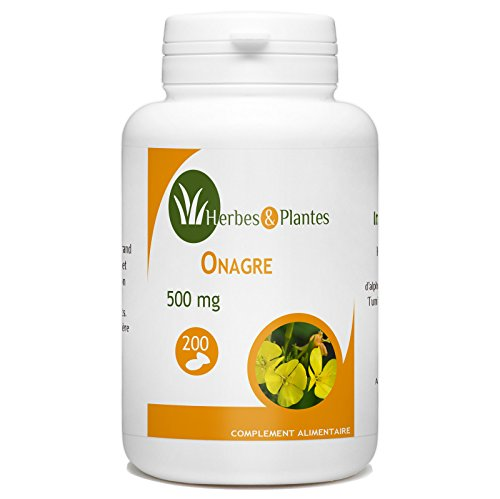 Herbes Et Plantes Onagre 200 Capsules 500 mg