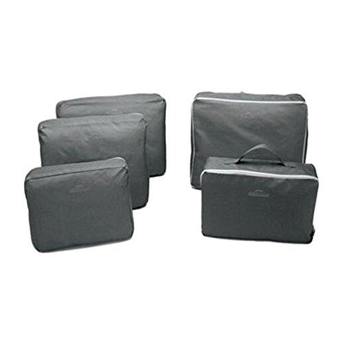 Sentao Satz von 5 Reise Kleidertaschen Verpackungswürfel organizer Wäschesack Gepäck Kompressionstaschen Tasche in Tasche Taschenorganizer für Kleidung