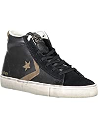 Converse Lifestyle PRO Leather Vulc Distressed Mid, Scarpe da Ginnastica Alte Unisex Adulto