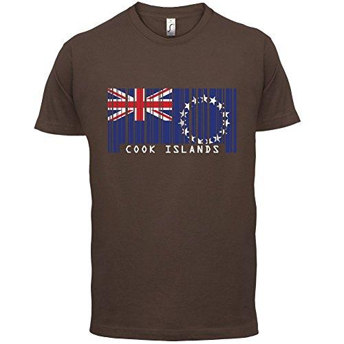 Cook Islands / Cookinseln Barcode Flagge - Herren T-Shirt - 13 Farben Schokobraun