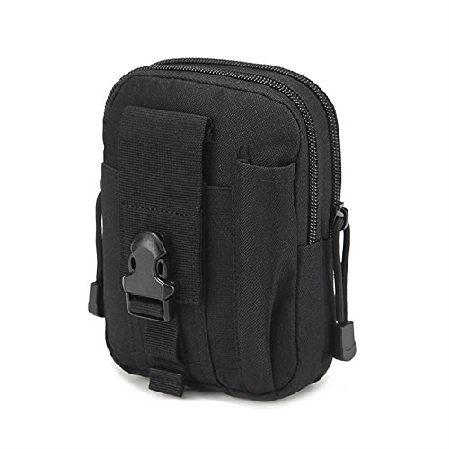 QEES YB01 Mehrzweck-Gürtel für den Außenbereich, für taktische Hüfttasche, Werkzeuggürtelhalterung, Reisetasche, Handy-Halter, Gadget Holster, schwarz Gadget-holster
