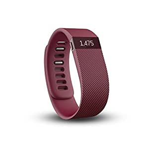 Fitbit Charge Wireless Activity Tracker and Sleep Wristband, Small (Burgundy)