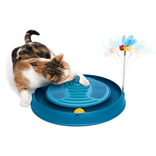 Catit 43001 3in1, mit Massage und Spielzeug, blau