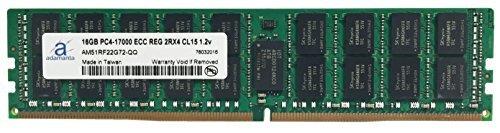 adamanta 16GB (1x 16GB) Server Speicher-Upgrade für Dell PowerEdge, Dell Precision & HP ProLiant Server Prozessor DDR42133MHz, PC4-17000ECC Registered Chip 2RX4CL151,2V RAM