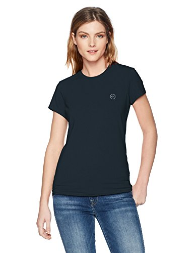 Armani Exchange Damen T-Shirt 8NYT74, Blau (Navy 1510), Small