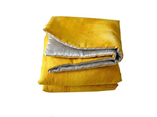 Plaid amarillo y plata