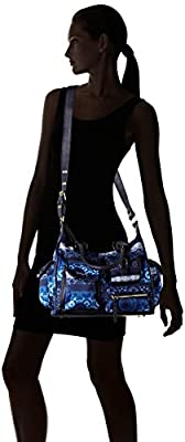 Desigual Bols_London Medium Barbados Sacs bandoulière Femme, 12x25x32 cm (B x H x T)