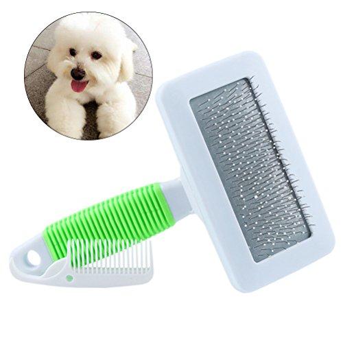 UEETEK Gatto di cane di animale domestico Guarigione professionale del pettine di rimozione del pettine della spazzola del pettine dei capelli della spazzola del pettine di spazz