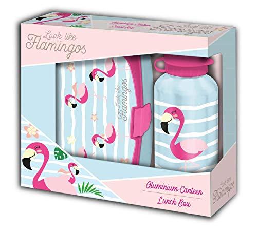 1a4affb60ea4 Desconocido Kids Licensing- Set Regalo Flamingo SANDWICHERA Y Botella 500  ML,, 40 cm (KL10034)