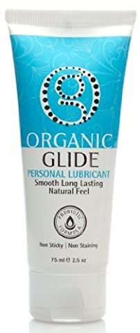 Organicglide Probiotic All Natural Personal Lubricant 75ml Tube 100% Eddible