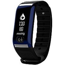 relojes hombre baratos de Sannysis H777 Monitor de frecuencia cardíaca con presión de oxígeno sanguíneo Podómetro