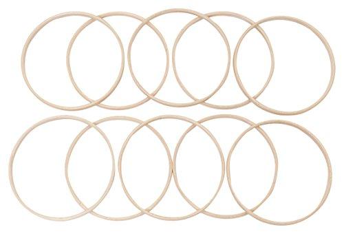 Elbesee Innen-Ringe für Stickrahmen, Holz, Braun, 17 cm Durchmesser, 10mm Dick, 10Stück