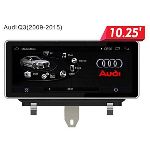 Audi Q3 in Dashboard Video Player, Lettore Multimediale Touch Screen da 10,25 Pollici, Navigazione GPS Multifunzione, Sistema Android, WiFi, Bluetooth