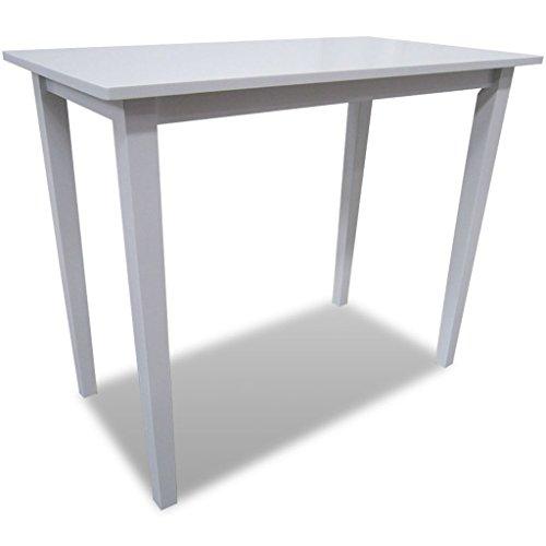 vidaXL Bartisch Holz Weiß Stehtisch Beistelltisch Esstisch Küchentisch Tisch