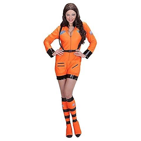 ORANGE ASTRONAUT LADY (L) (jumpsuit boot covers)