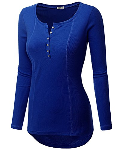 YouPue Femmes Pullover Tricot Manche Longue T-shirt V Col Pull-over Sweatshirt Pullovers Tops Blouse Casual S M L XL Bleu