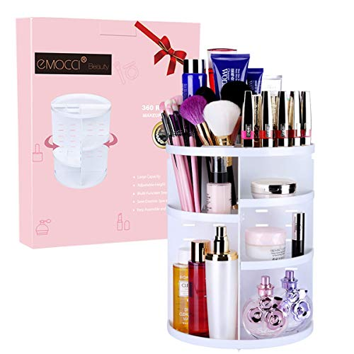 Makeup organiser emocci diy detachable make up holder storage large capacity acrylic cosmetics organiser box white …