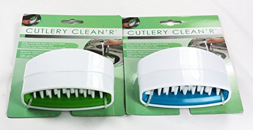 1 x Cutlery Cleaner Sink Washing Up Brush Suction Cup Bristles Hand Wash Detergent