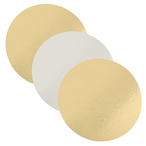 Autour du gateau - Pâtisserie et évênements - Lot de 3 semelles à gâteaux ronde 20 cm