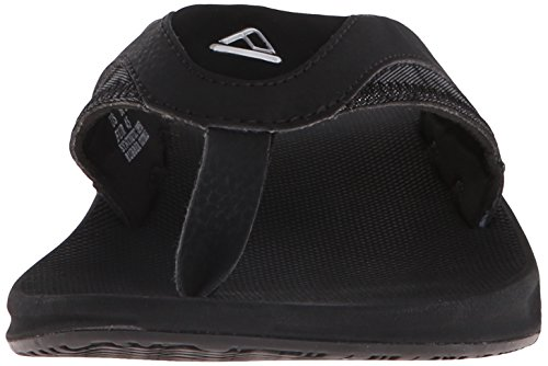Reef Fanning Prints, Tongs homme Schwarz/silber (black/silver)