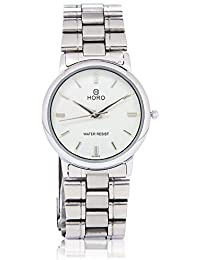Horo(Imported) Silver Plated Steel Chain Round Wrist Watch 40X32mm