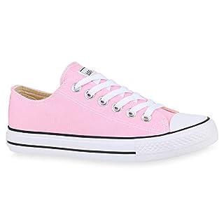 Stiefelparadies Damen Sneakers Sportschuhe Freizeit Stoffschuhe Gr. 36-41 172628 Rosa Rosa Ambler 37 Flandell