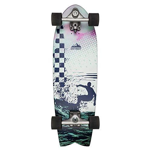 Forfar 70 millimetri 51 millimetri Skateboard ruote Skateboaring Ruote elevata elasticit/à Durevole Glide flessibile per Longboard Sport da tavola Pesce