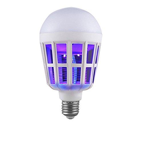 lampara mosquitos LED,VENMO 15W 1000LM 6500K Bombilla Lámpara antimosquitos LED electrónica,repelente mosquitos Interior (Negro)