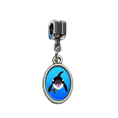 ORCA–Killerwal italienischen europäischen Euro-Stil Armband Charm Bead–für Pandora, Biagi, Troll,, Chamilla,, andere (Orca-kostüme)