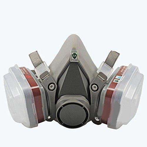JullyeleESgant Filtro profesional del respirador del gas de la máscar