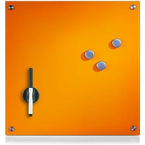 Zeller 11647 - Pizarra magnética (cristal), color naranja