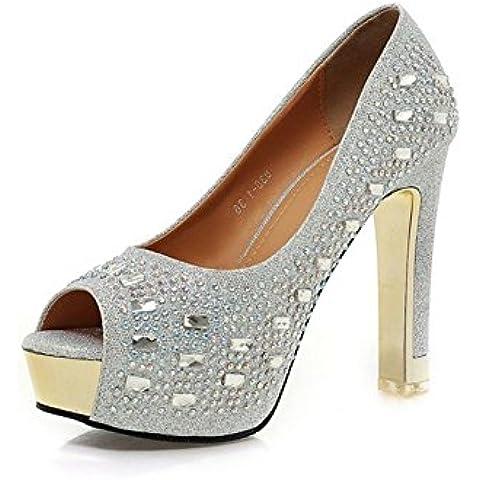 Zapatos de boda/Peep toe/ super alto talón zapatos de novia/Diamante zapatos de las mujeres/Zapatos impermeables