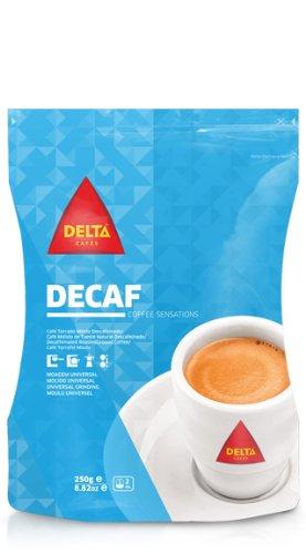 Delta Entkoffeiniert Gerösteten Kaffee für Espressomaschine oder Beutel 250g