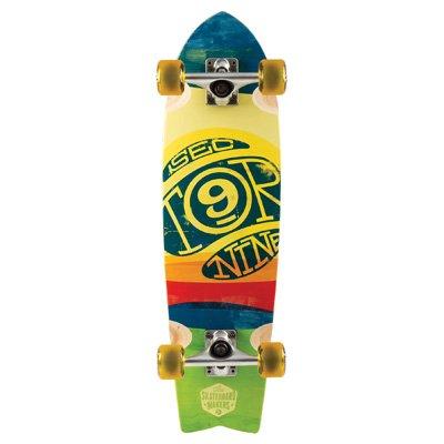Sector 9 Floater komplett Skateboard, Herren, gelb (Bamboo 9 Sector Longboards)