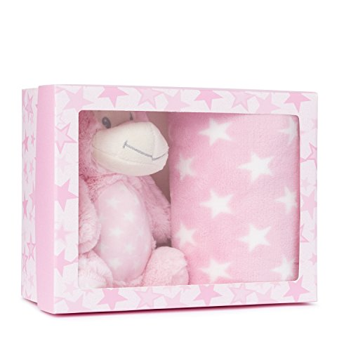 Snowman Soft Toy with Blanket Baby Pink Monkey