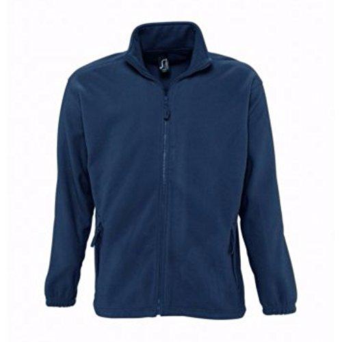 SOLS North - Veste polaire à fermeture zippée - Homme (XL) (Bleu marine)