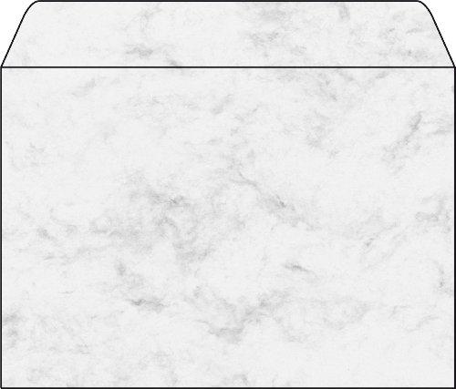 Preisvergleich Produktbild Sigel DU202 Briefumschläge Marmor grau, C5, 25 Stück, gummiert