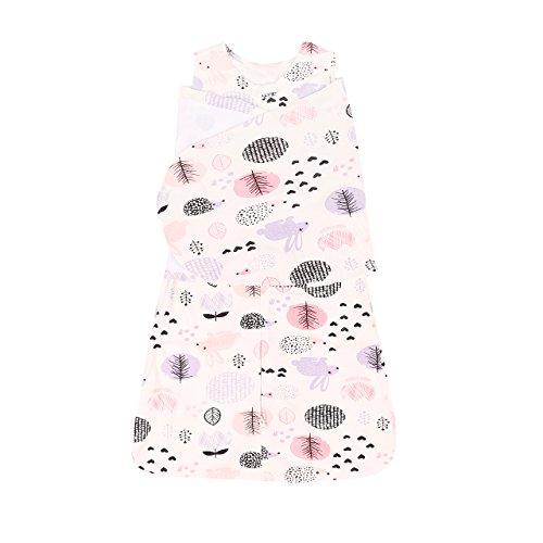 Miracle Baby Sac de Couchage Avec des Ailes En Coton 100% , Couverture Emmaillotage Bébé Coton Avec Imprimé Sirène Pour Bébés 6 Mois