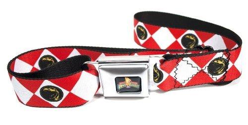 Power Rangers Logo Ranger Diamonds Erwachsene Seatbelt Gürtel (rot)
