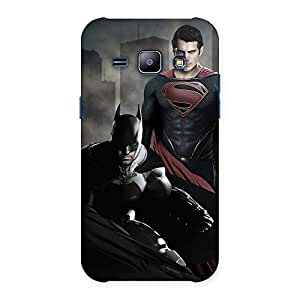 Enticing knight Vs day Ready Multicolor Print Back Case Cover for Galaxy J1