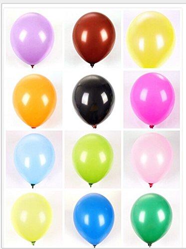 tinxi® 100 Latex Palloncini Multi-colori 10 pollici per Festa, Compleanno, Matrimonio, ad alta