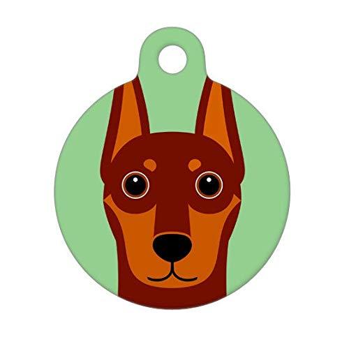 Burkeroan Pet ID Tag Chic Pet ID Tag, Pet Tag for Dogs Cats Red Doberman Pinscher