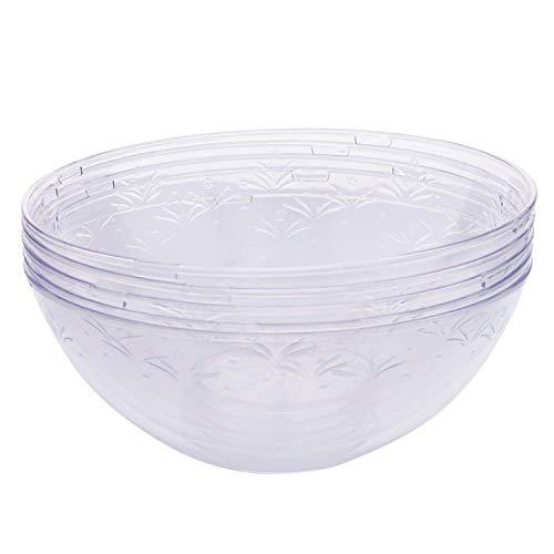 5 Pcs Elegante Klar SalatSchüsseln, 1500 ml - Wiederverwendbar & Einweg Hart PlastikSchüsseln - Leicht, Robust & Stabil - Perfekt für Catering Partys Feiern Hochzeiten Geburtstage Catering-tray