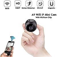 ADHOSJO HD 1080P Mini WiFi cámara infrarroja visión Nocturna Micro cámara Wireless IP P2P Mini cámara detección de Movimiento DV DVR cámara para el hogar, Oficina, Coche, etc