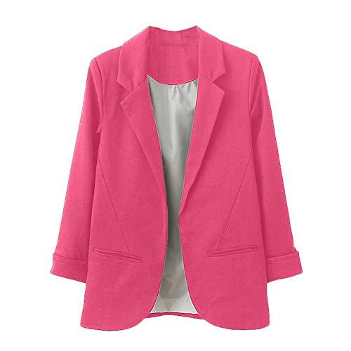 sunnymi Frauen Mantel OL Stil Neun Viertel Hauchhülse Blazer Elegante Dünne Anzug